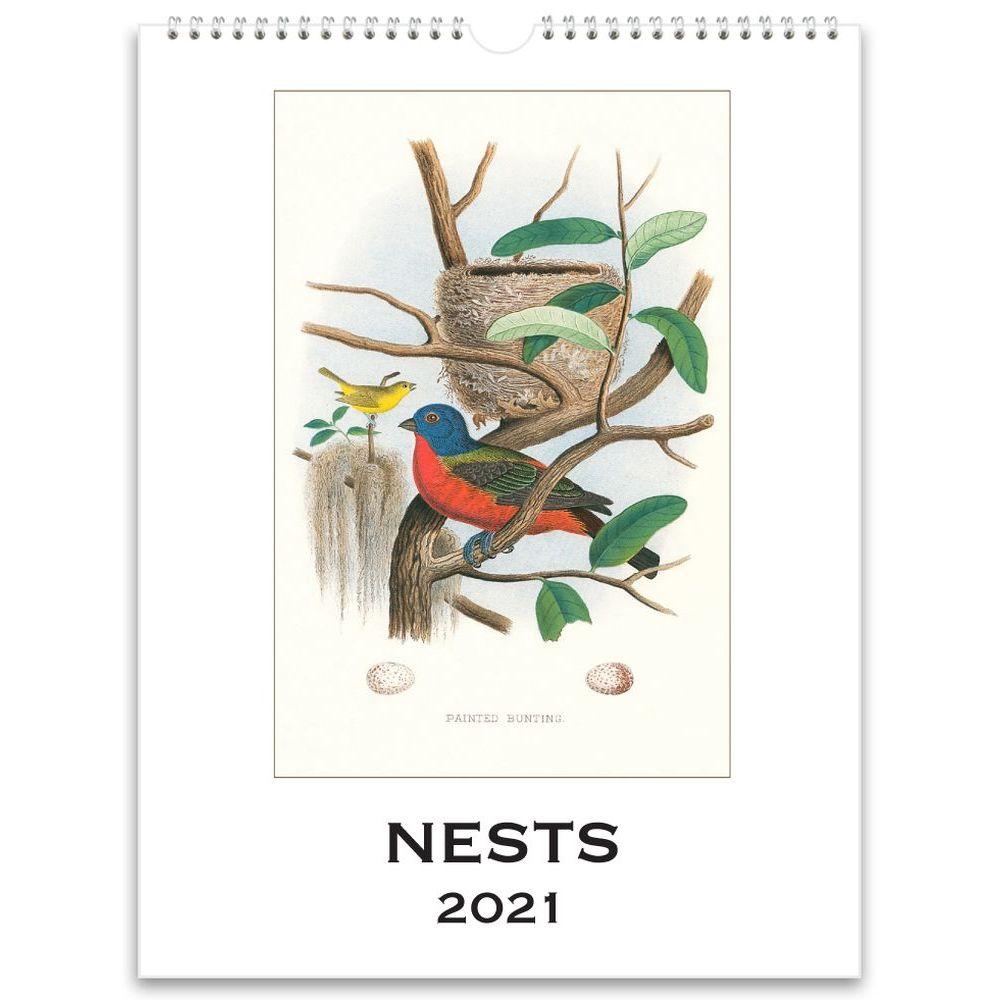 2021 Nests Nostalgic Poster Wall Calendar