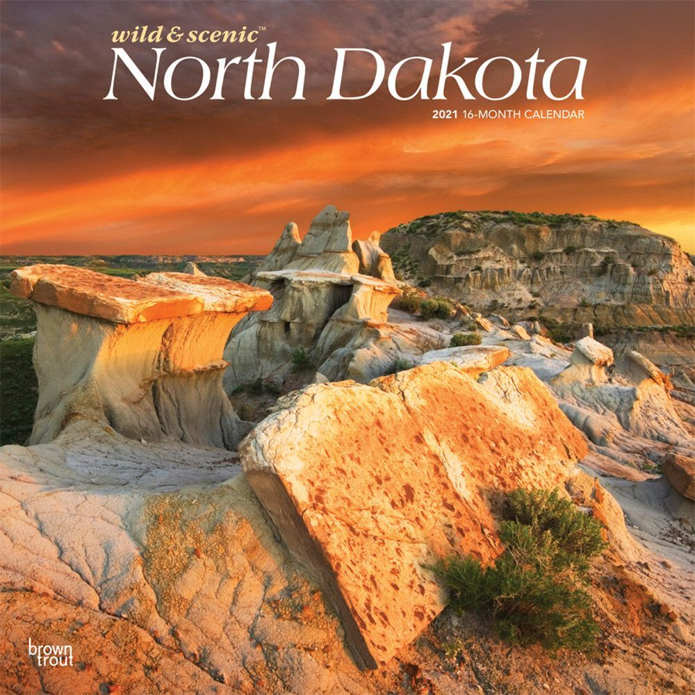 North Dakota 2021 Wall Calendar