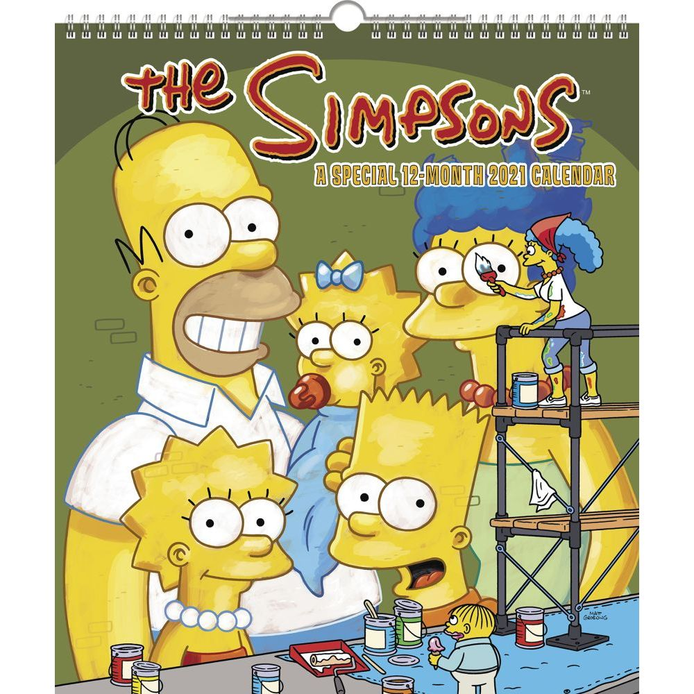 2021 Simpsons Special Edition Poster Wall Calendar