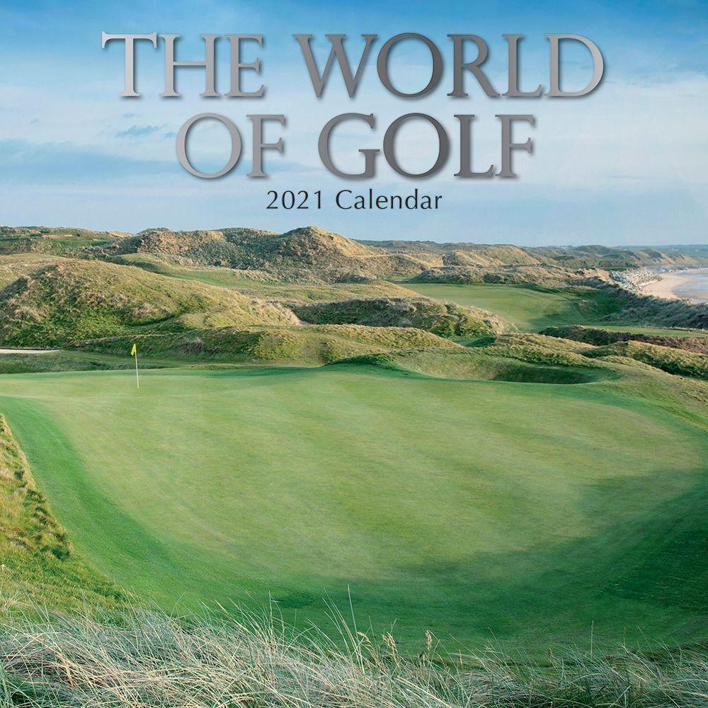 2021 World of Golf Wall Calendar