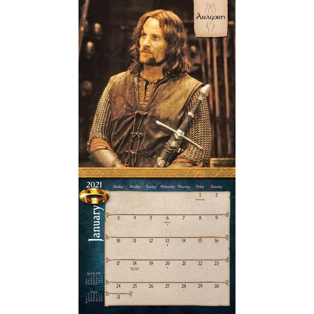 Lord Of The Rings Wall Calendar Calendars Com