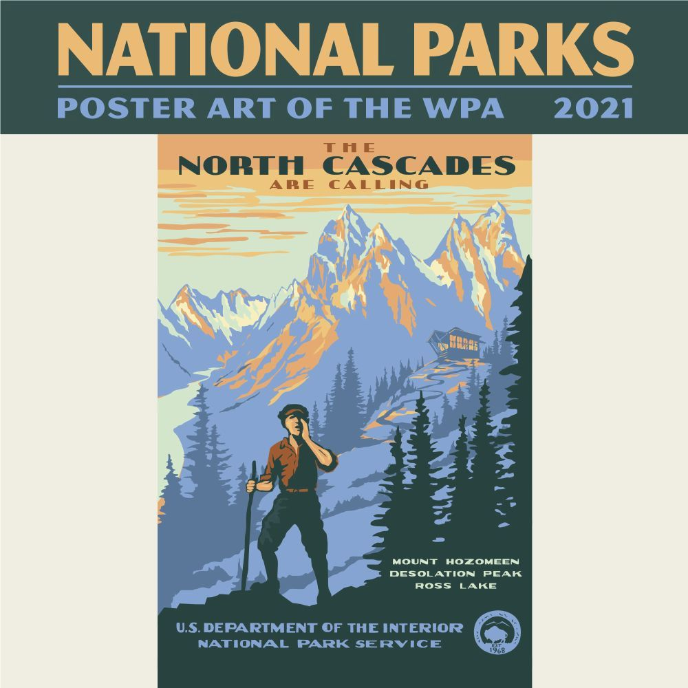 2021 National Parks Poster Art WPA Mini Wall Calendar