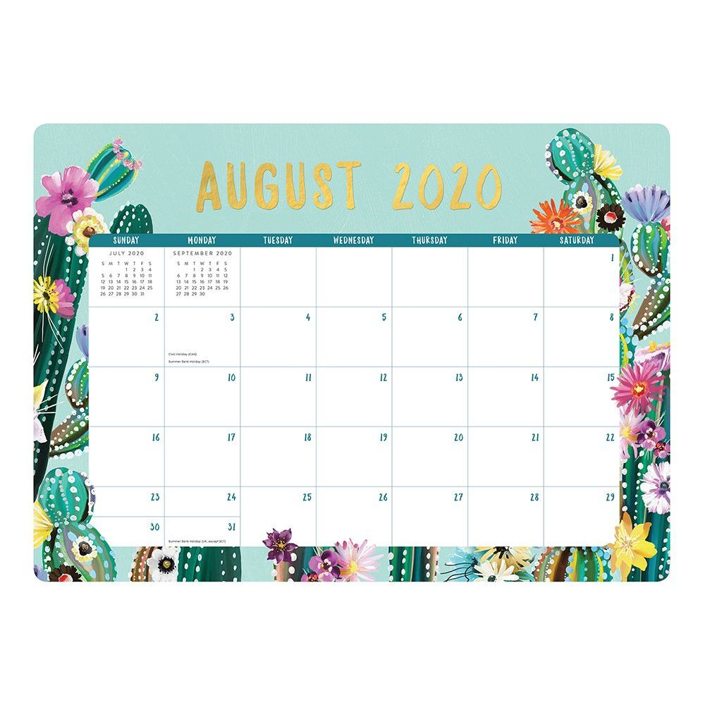 2021 Desert Blossoms Decorative Desk Calendar