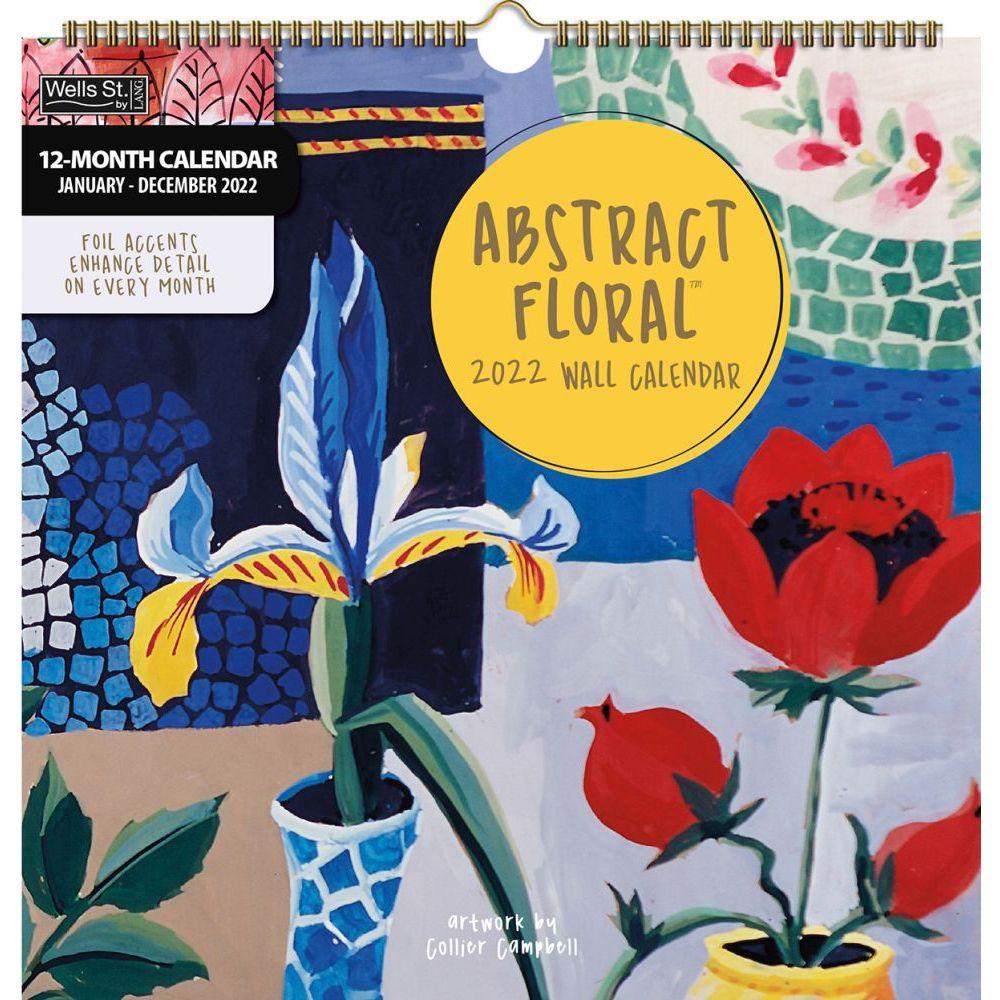 Abstract Floral 2022 Spiral Calendar