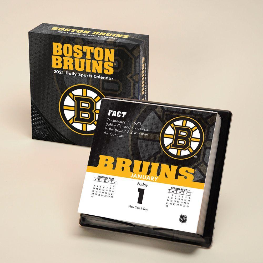 2021 Boston Bruins Desk Calendar