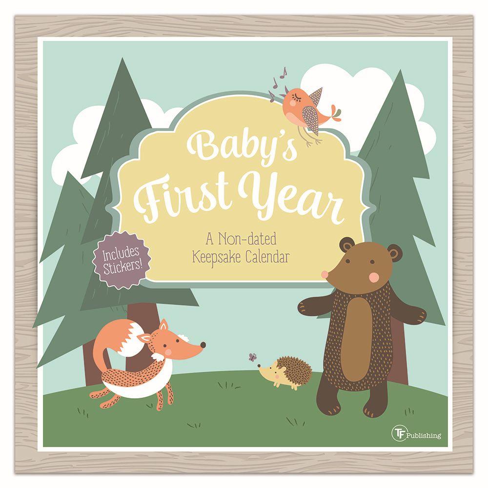 2021 Babys First year Woodland Nondated Calendar