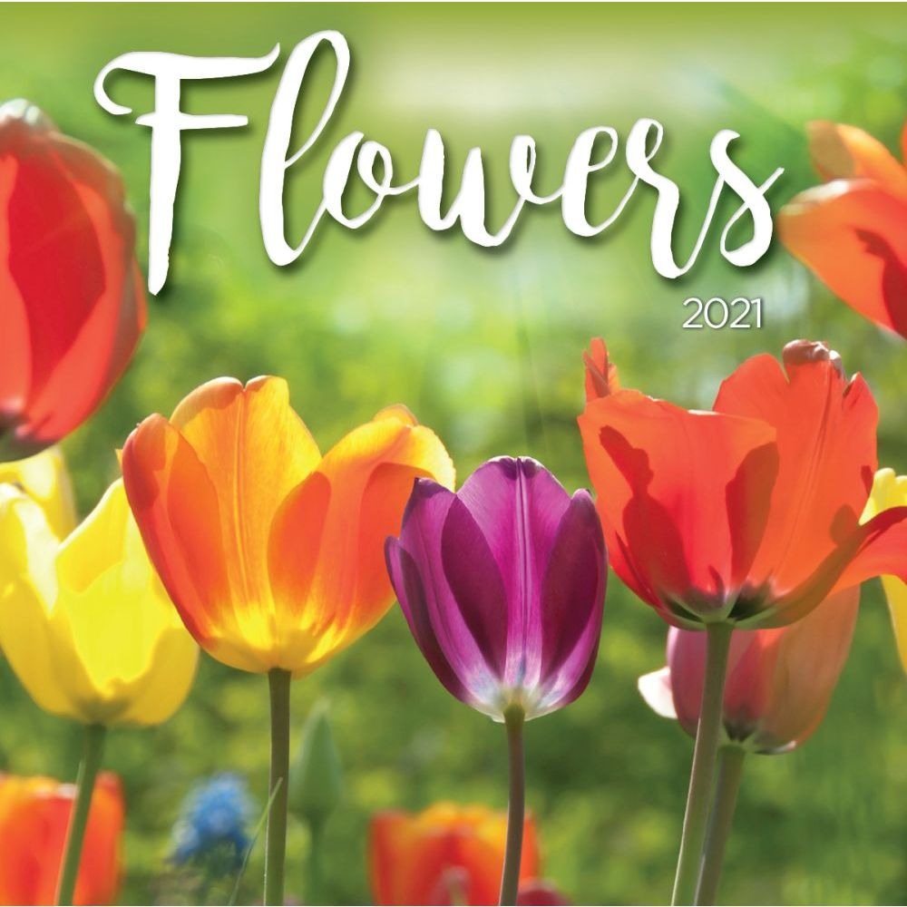 2021 Flowers Mini Wall Calendar