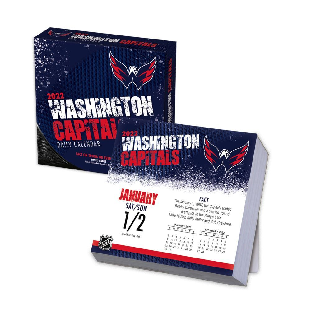 Washington Capitals 2022 Desk Calendar