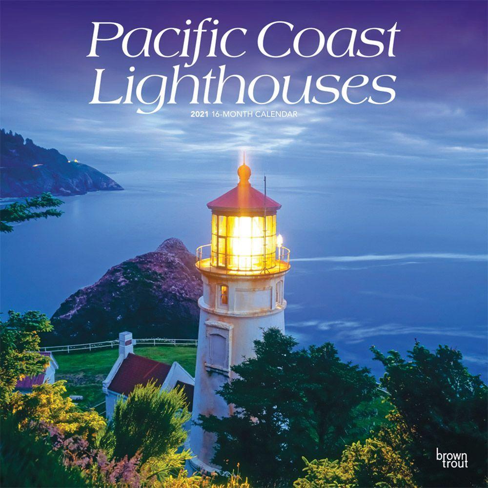 2021 Lighthouses Pacific Coast Wall Calendar