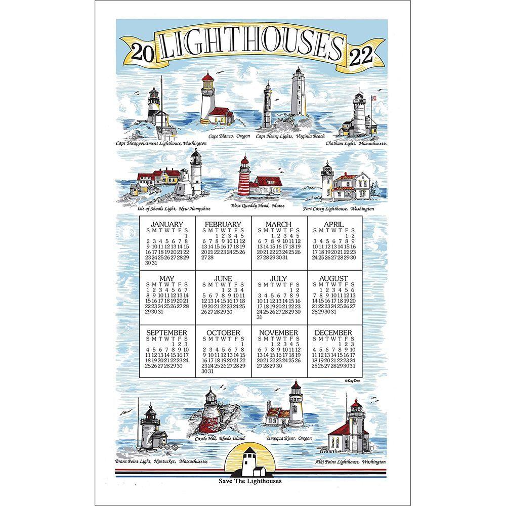 Lighthouses 2022 Kitchen Towel Calendar
