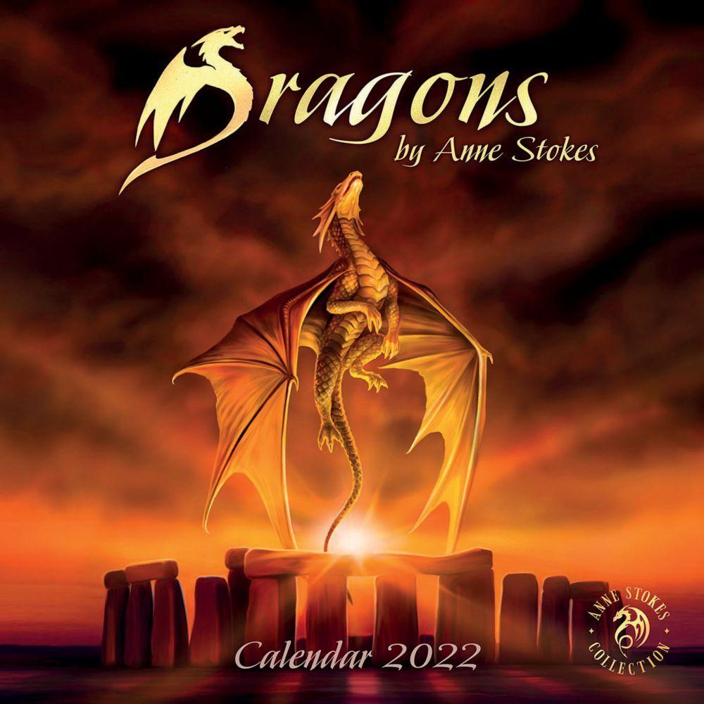Anne Stokes Dragon Mage 2022 Wall Calendar