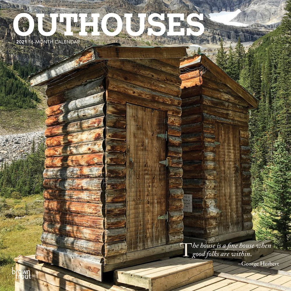 2021 Outhouses Wall Calendar