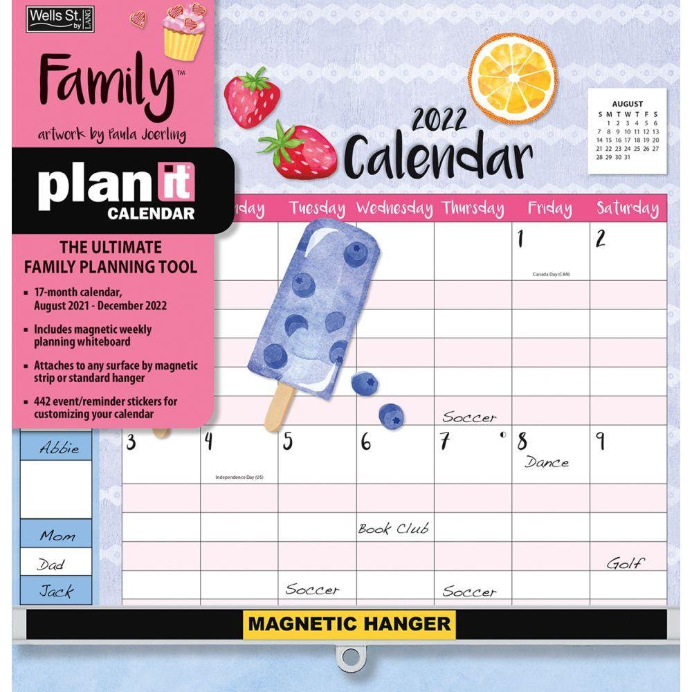 Family Plan-It Plus 2022 Wall Calendar