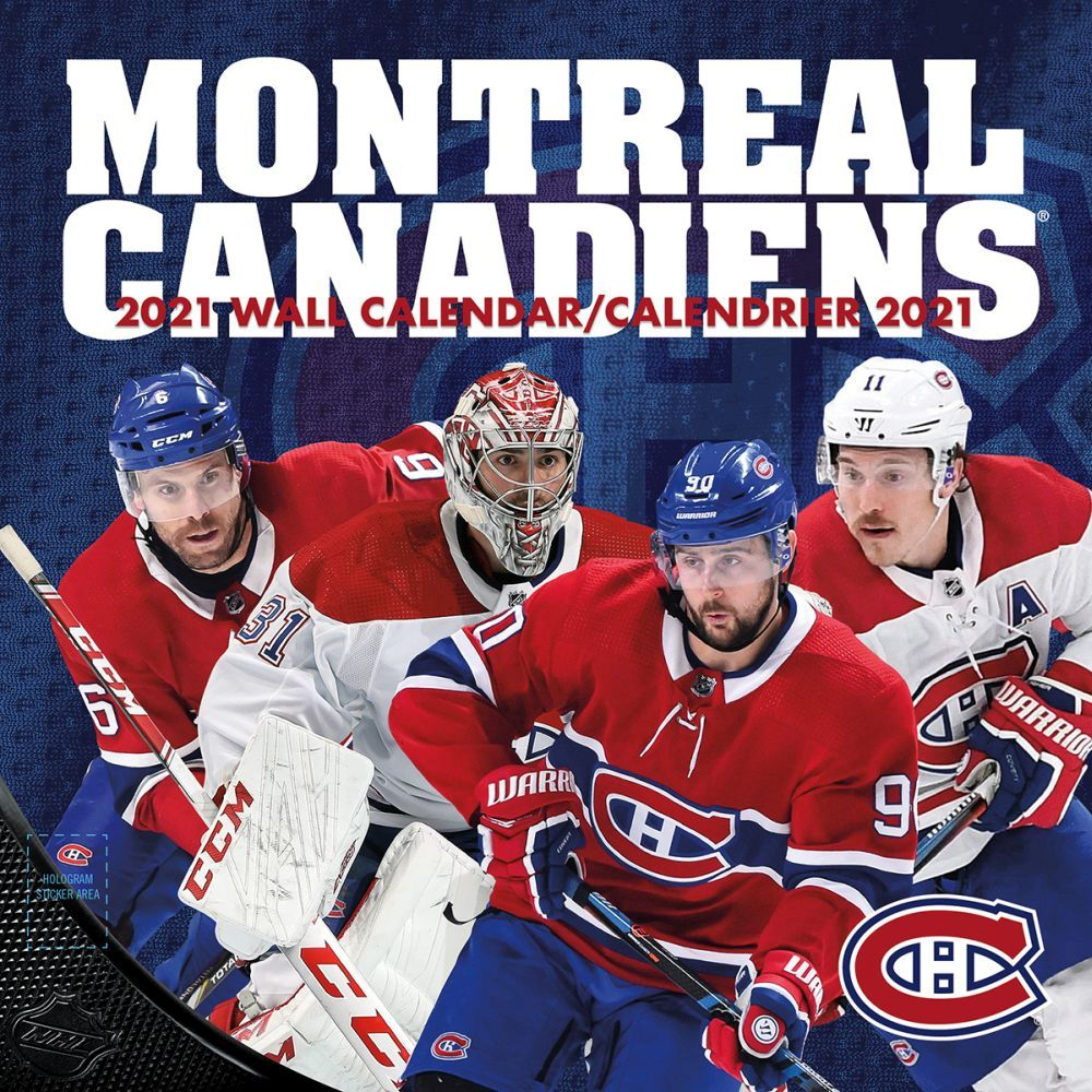 2021 Montreal Canadiens Wall Calendar