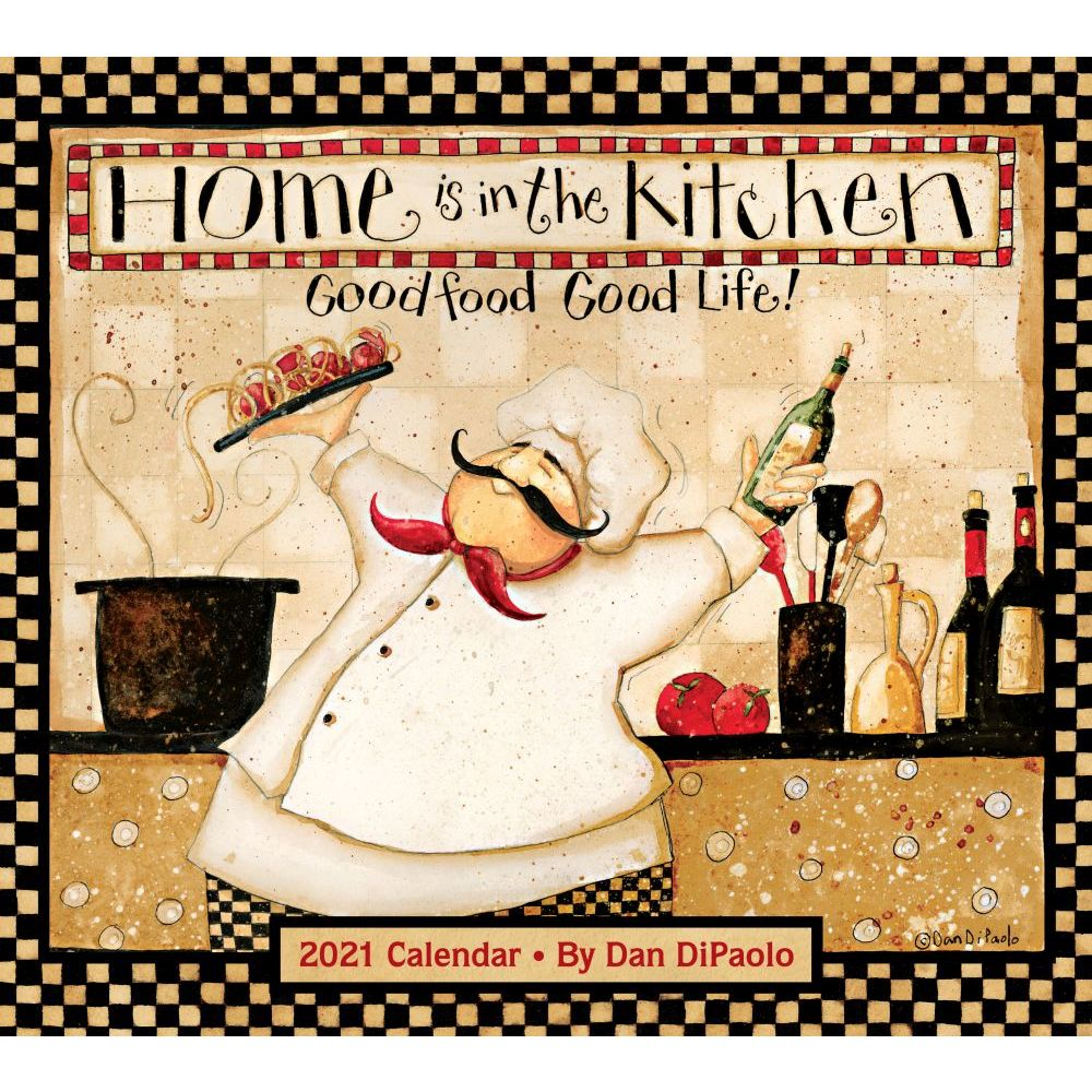 2021 Home In The Kitchen Wall Calendar