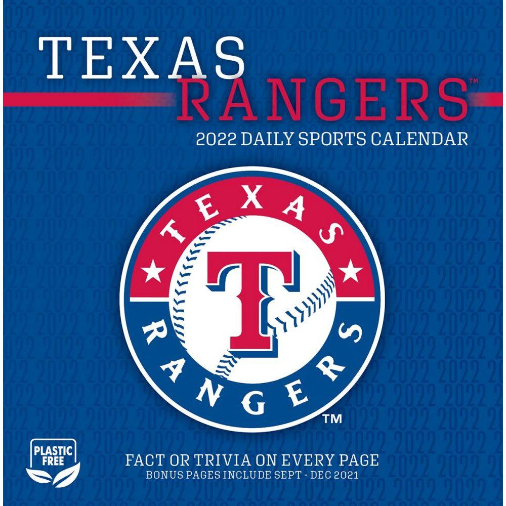 Texas Rangers 2022 Desk Calendar