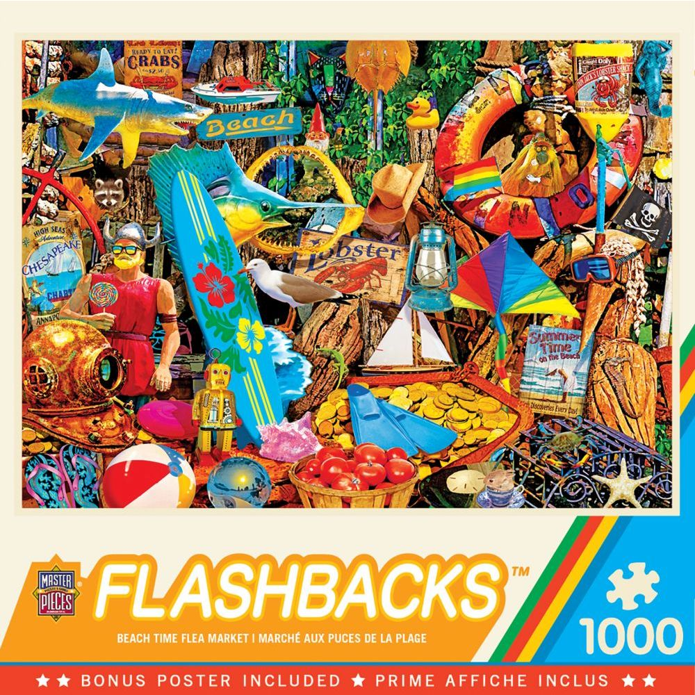 Best Beach Time Flea Market 1000pc Puzzle You Can Buy