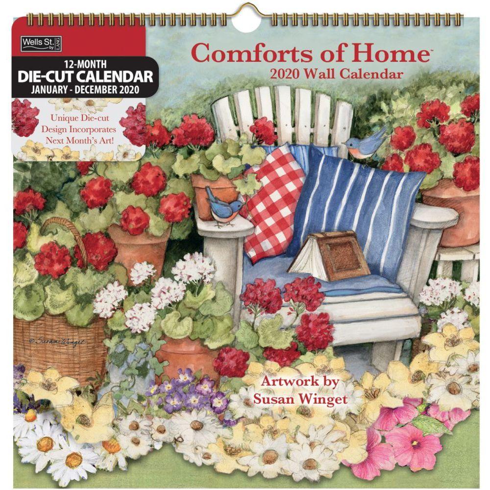 Comforts of Home Die-Cut Wall Calendar by Susan Winget