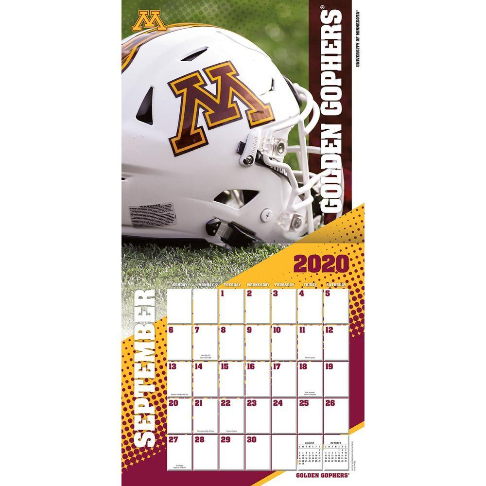 Minnesota Golden Gophers Wall Calendar Calendars Com