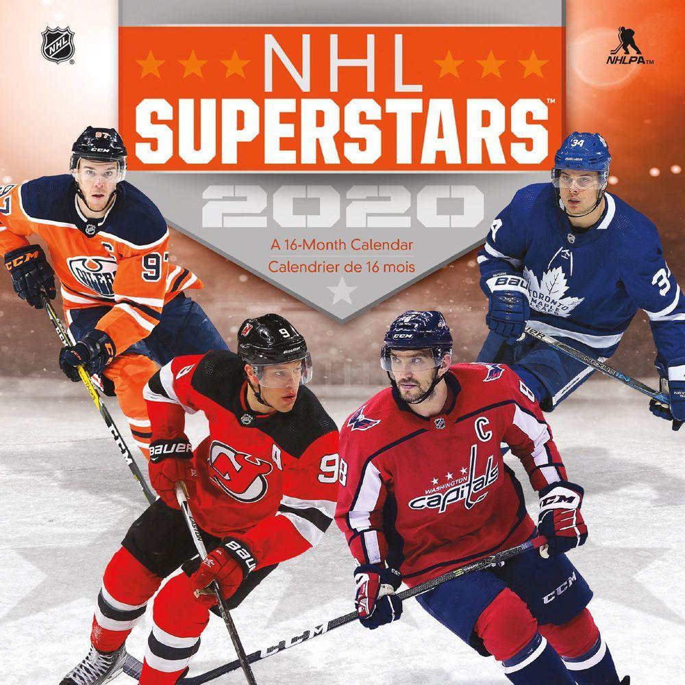 NHL Superstars Bilingual 2021 Mini Wall Calendar
