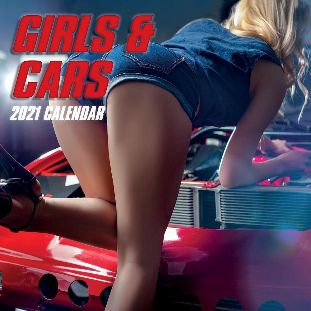 Girls and Cars 2021 Wall Calendar