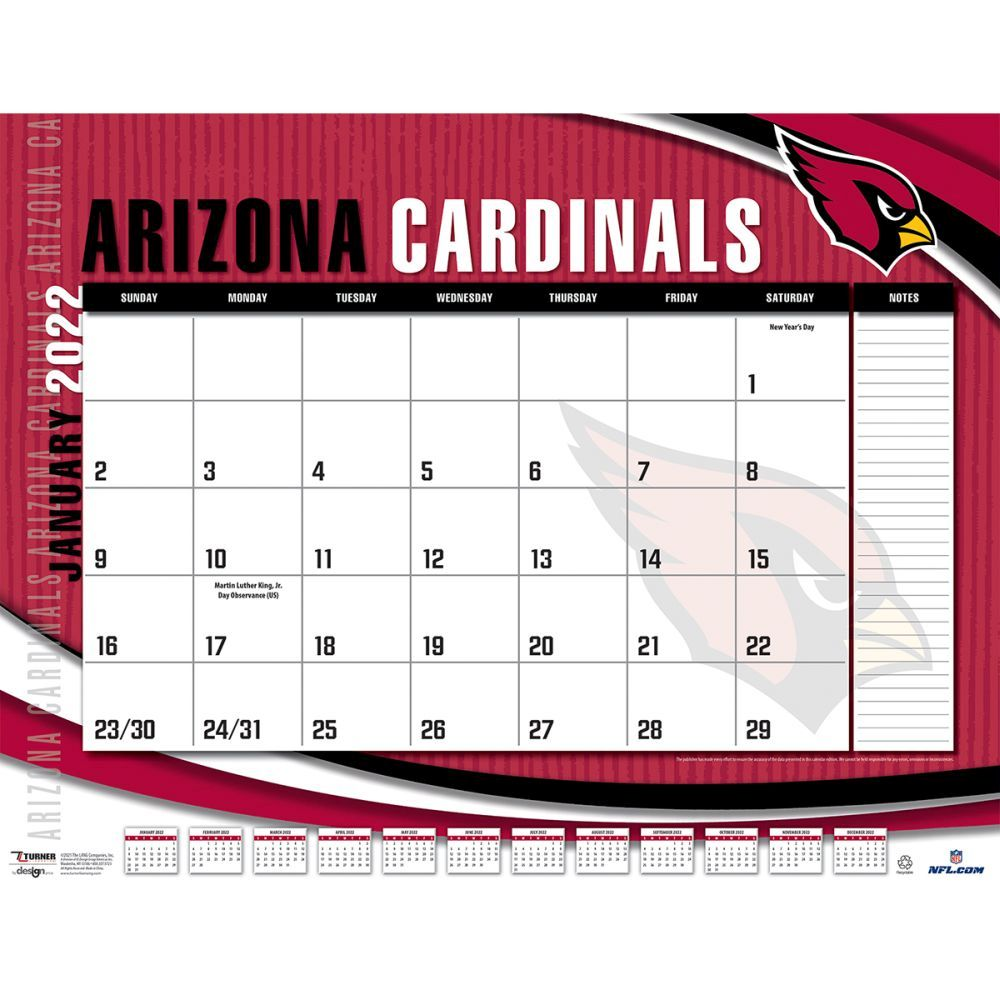 Arizona Cardinals 2022 Desk Pad
