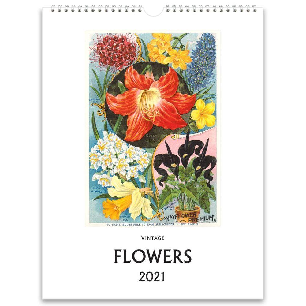 Flowers Vintage 2021 Wall Calendar