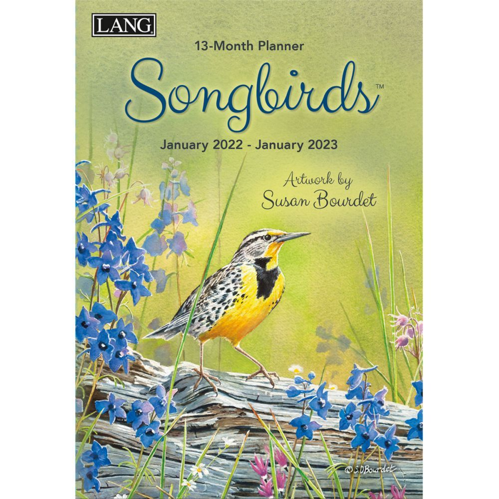 Songbirds 2022 Monthly Planner