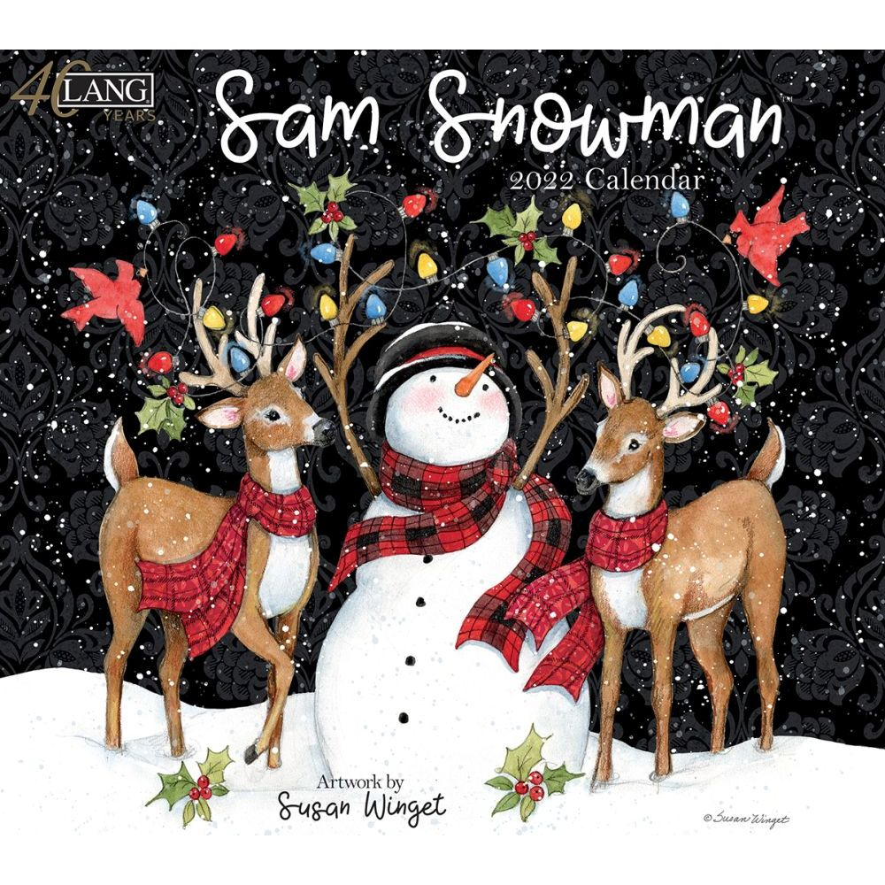 Susan Winget Sam Snowman 2022 Wall Calendar