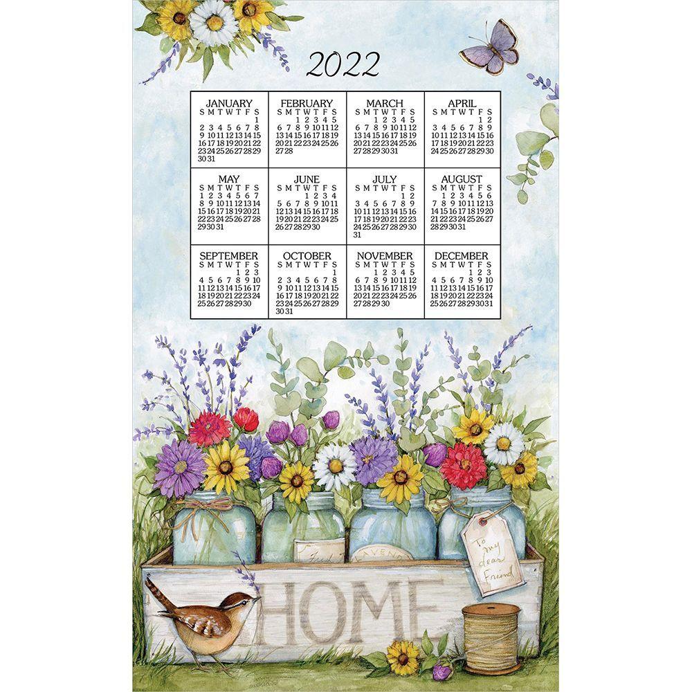 Home Floral 2022 Kitchen Towel Calendar