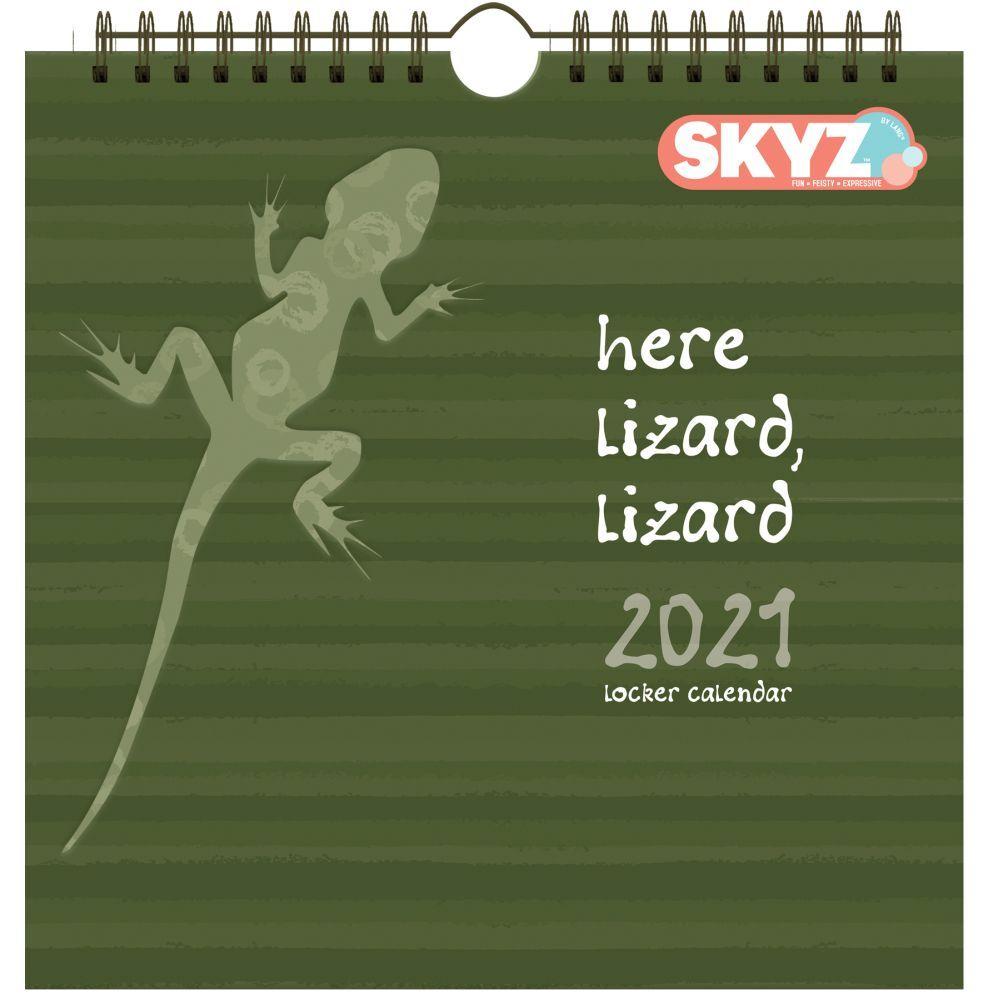 2021 Here Lizard, Lizard Locker Calendar