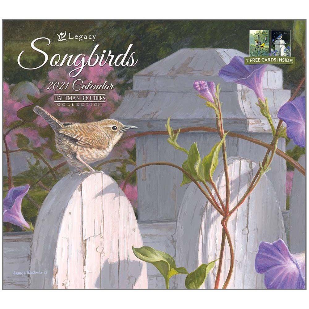 2021 Songbirds Hautman Wall Calendar