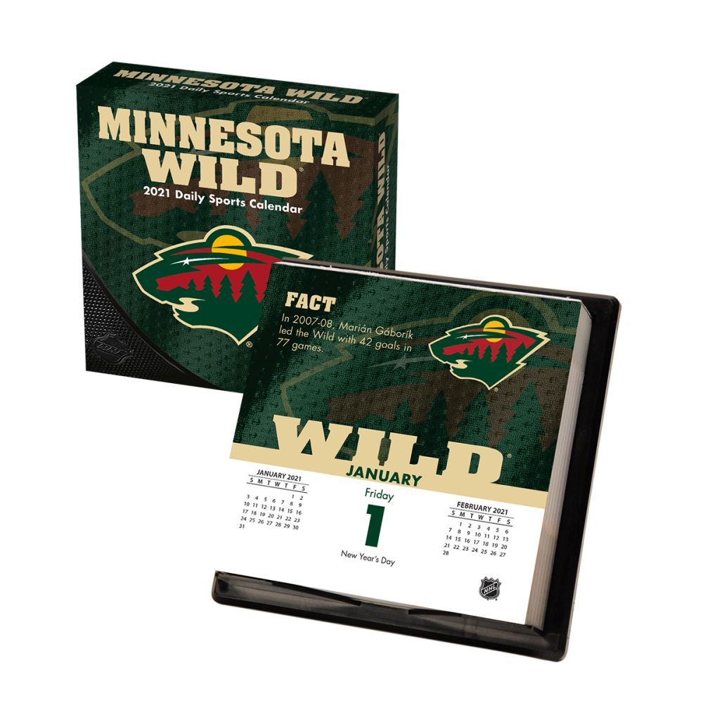 2021 Minnesota Wild Desk Calendar
