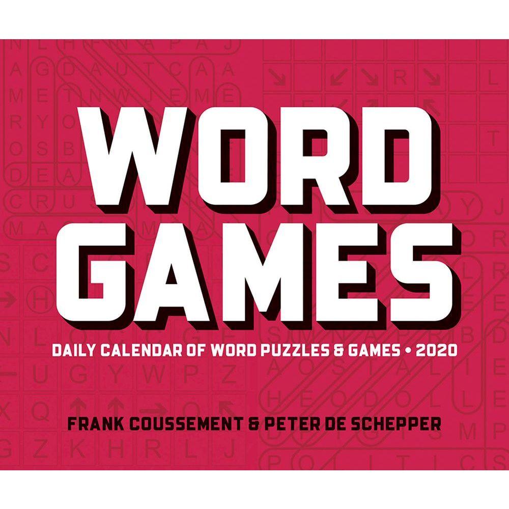 Word Games 2021 Desk Calendar