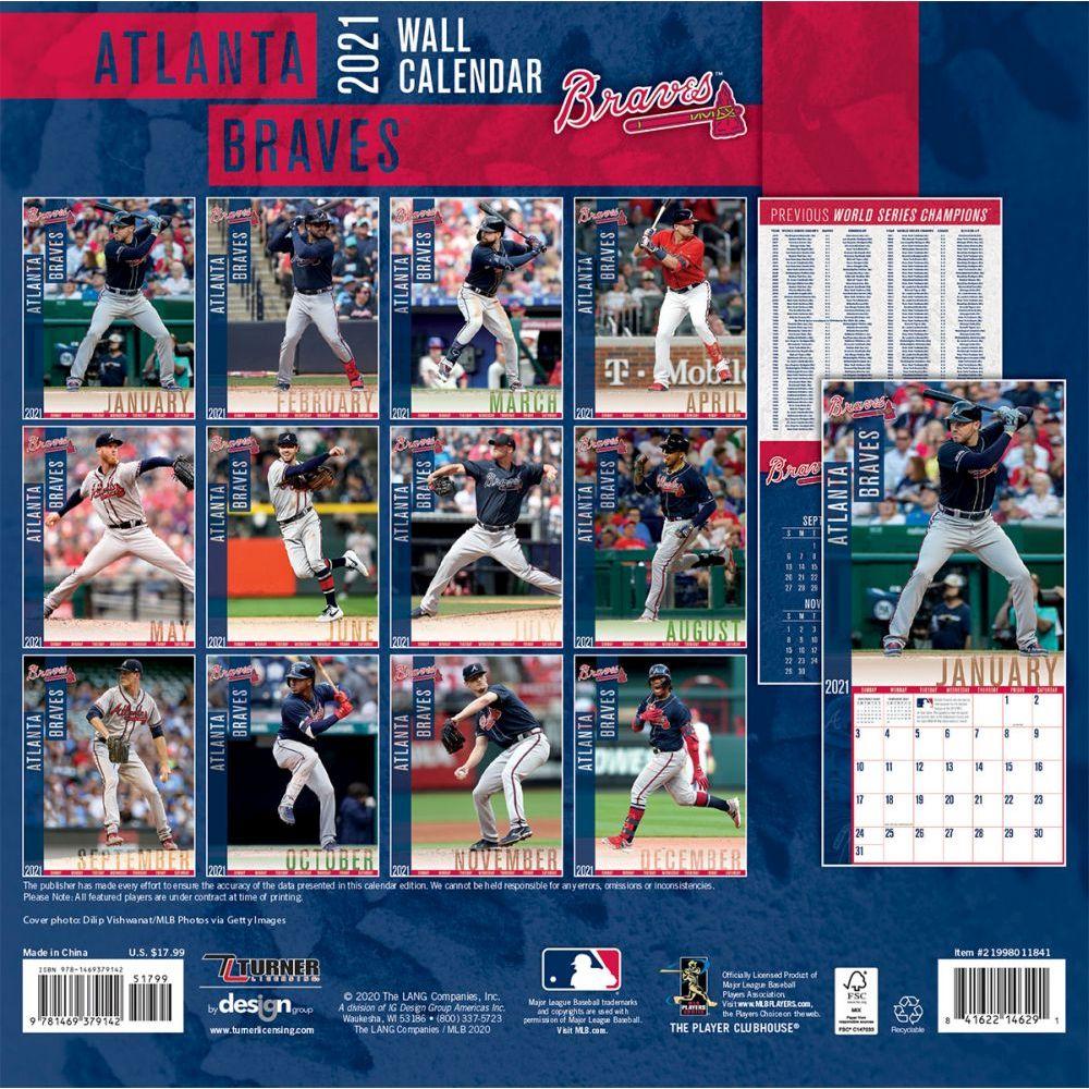 Atlanta Braves Wall Calendar Calendars Com