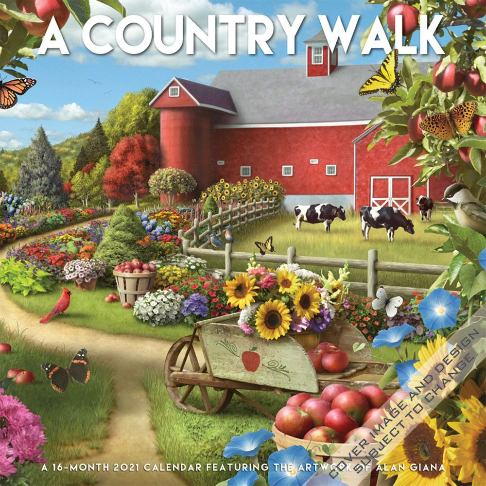 2021 Country Walk Wall Calendar