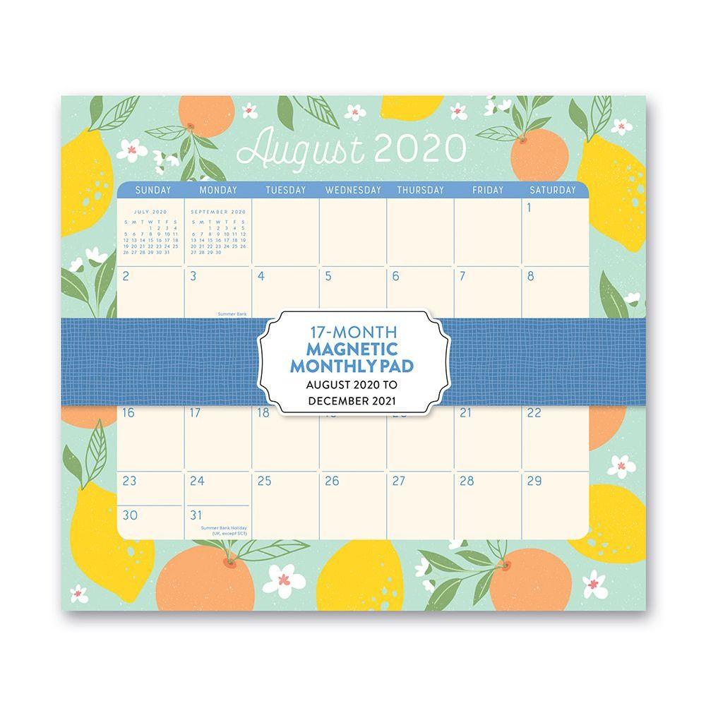 2021 Sunny Citrus Magnetic Calendar