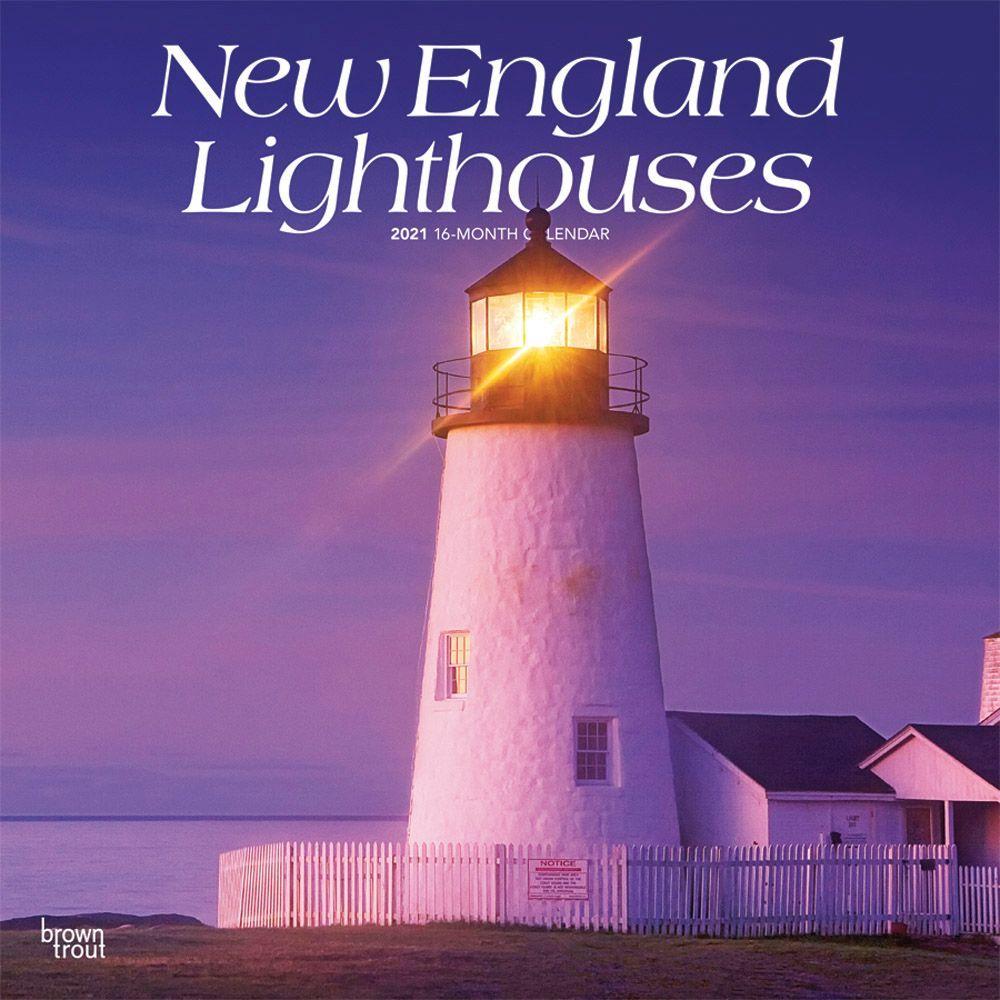 2021 Lighthouses New England Wall Calendar