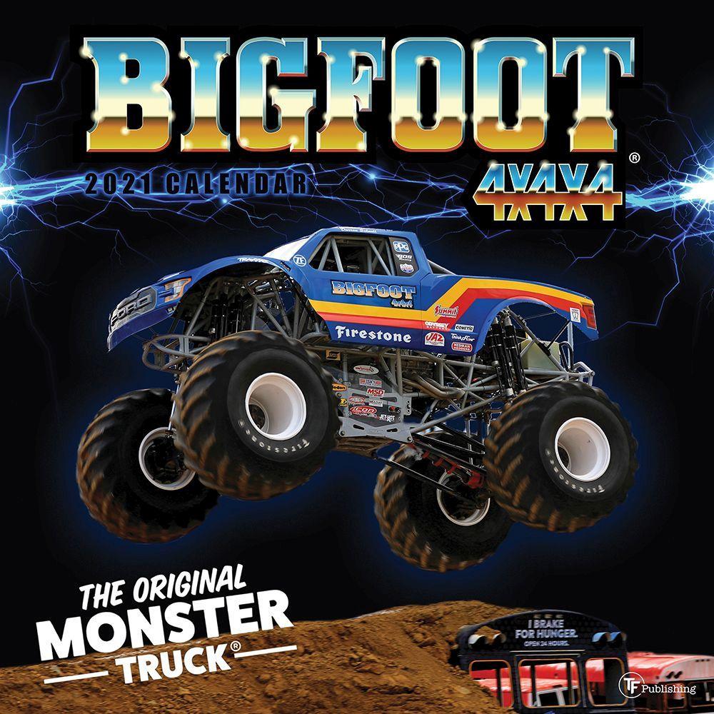 2021 Big Foot Original Monster Truck Wall Calendar