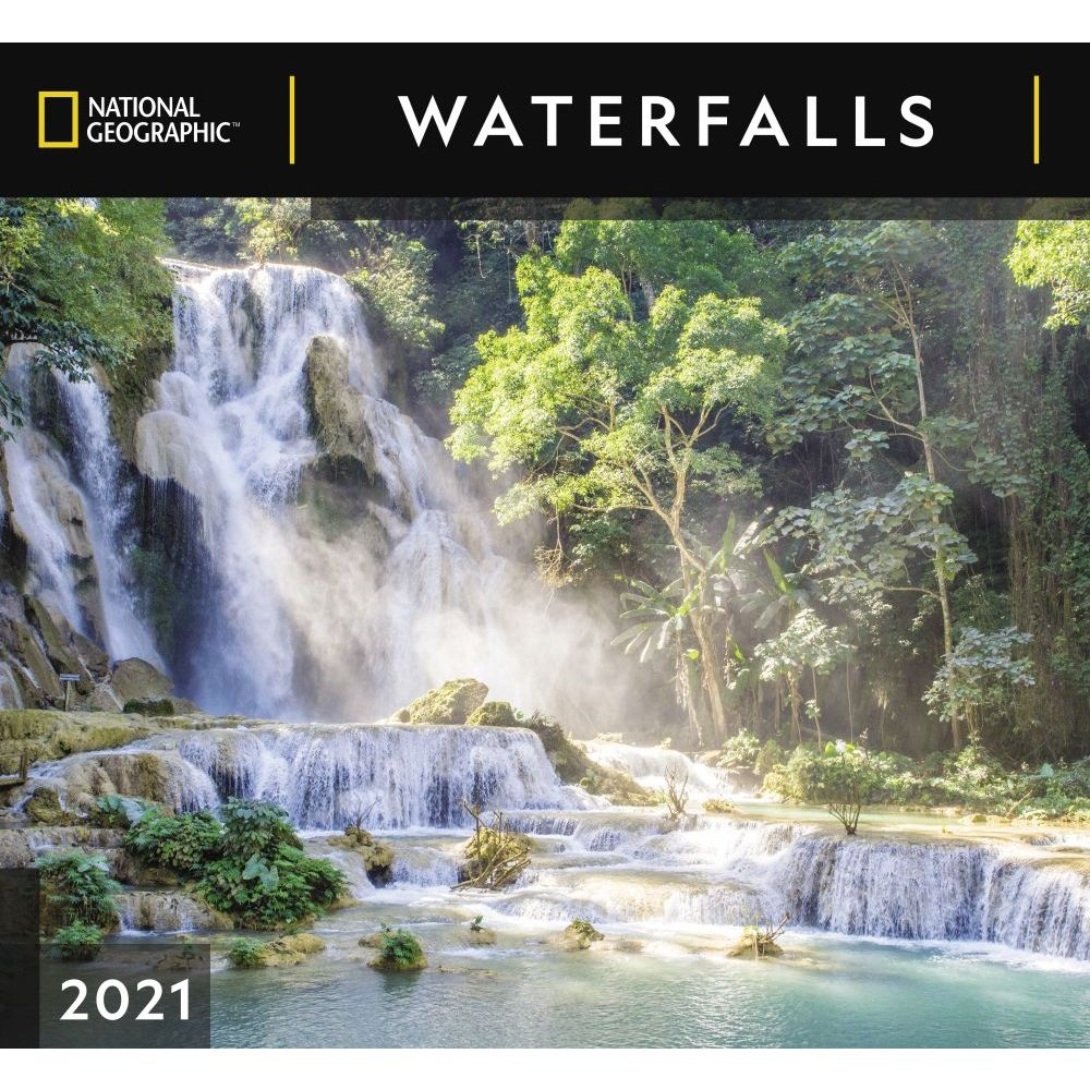 2021 Waterfall National Geographic Wall Calendar