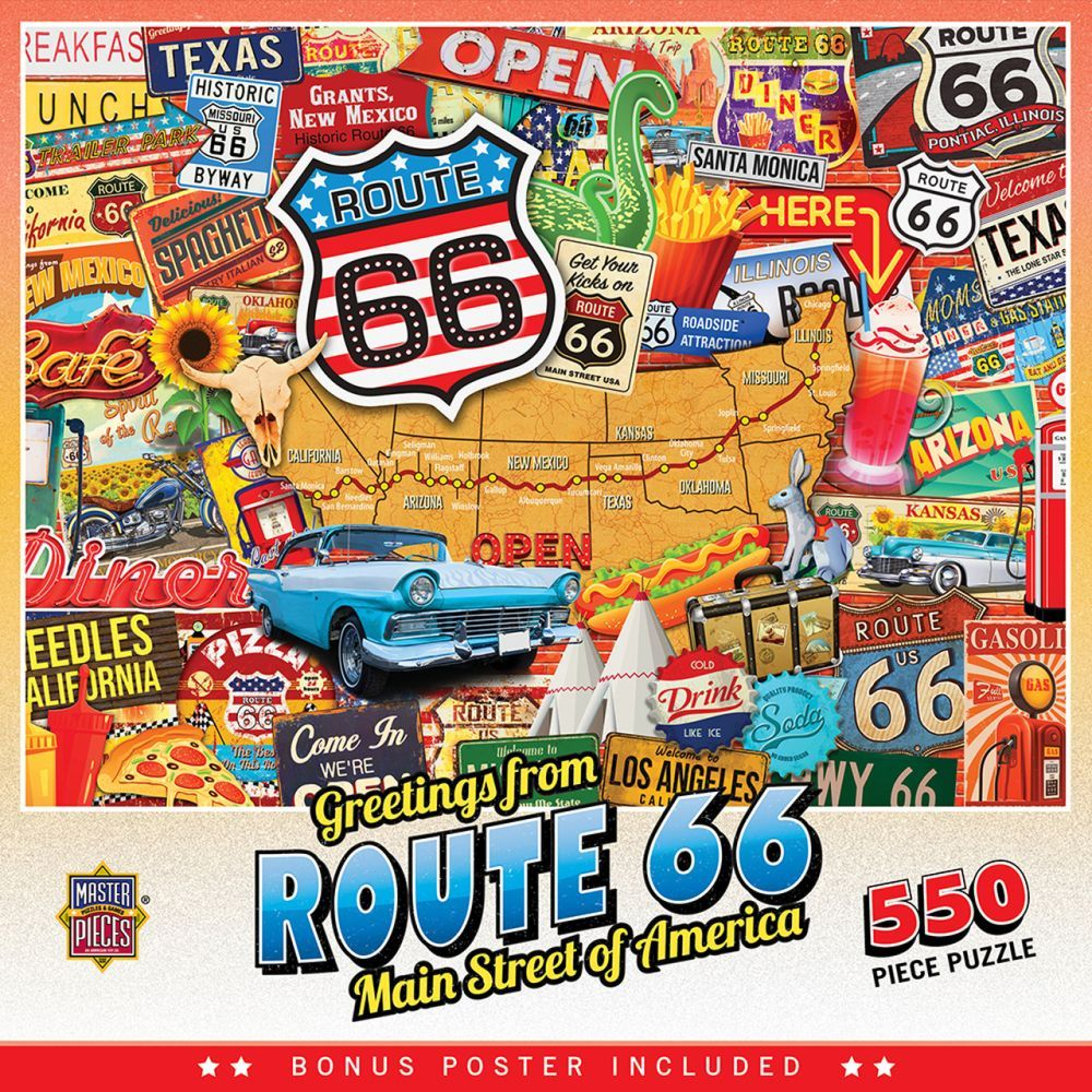 Best Greetings from Route 66 550pc Puzzle You Can Buy