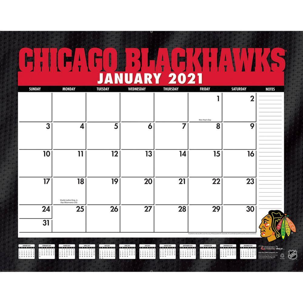 Chicago Blackhawks 2021 Desk Pad