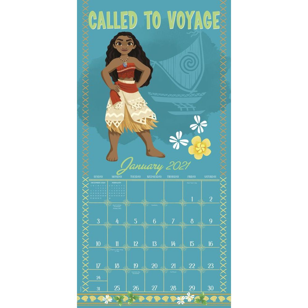 Images of Moana Calendar 2021