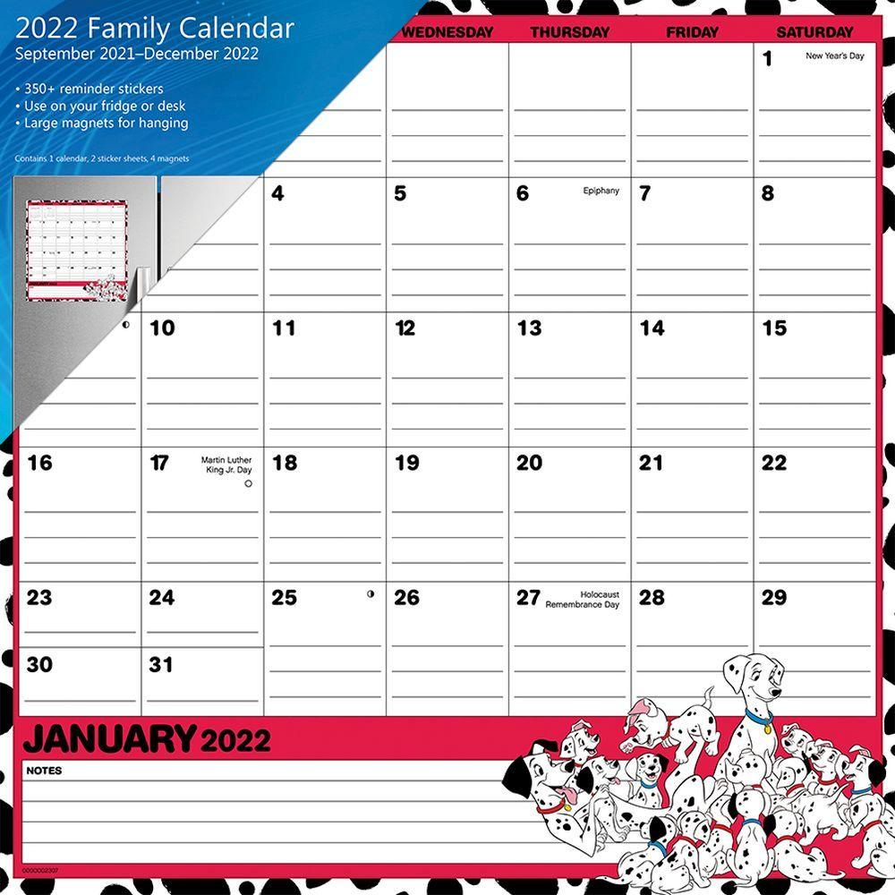 Disney Classic 2022 Magnetic Calendar