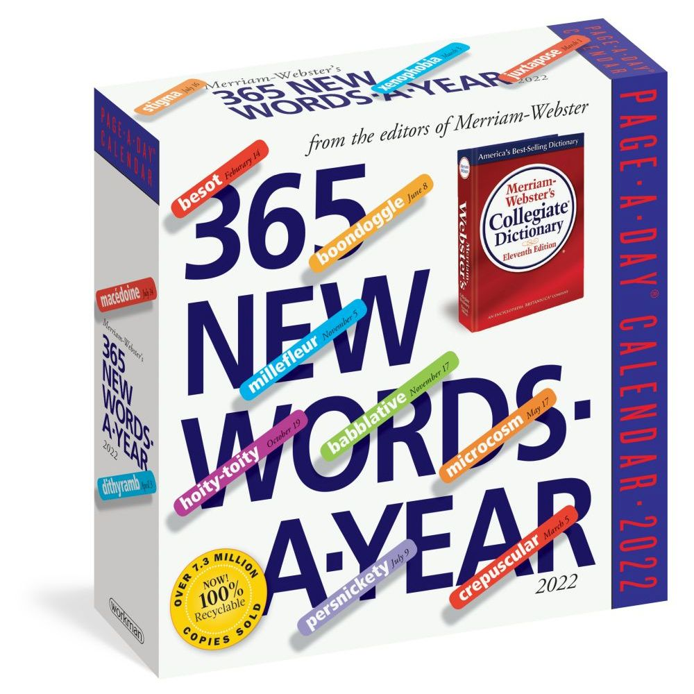 365 New Words-A-Year Page-A-Day 2022 Desk Calendar