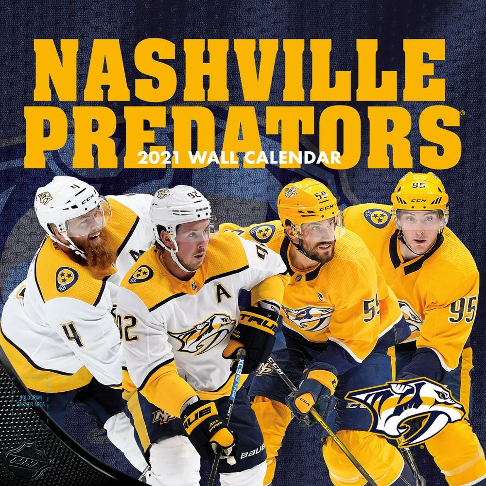 2021 Nashville Predators Wall Calendar