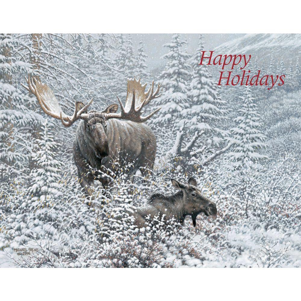 Winter Wonder Moose Boxed Christmas Cards