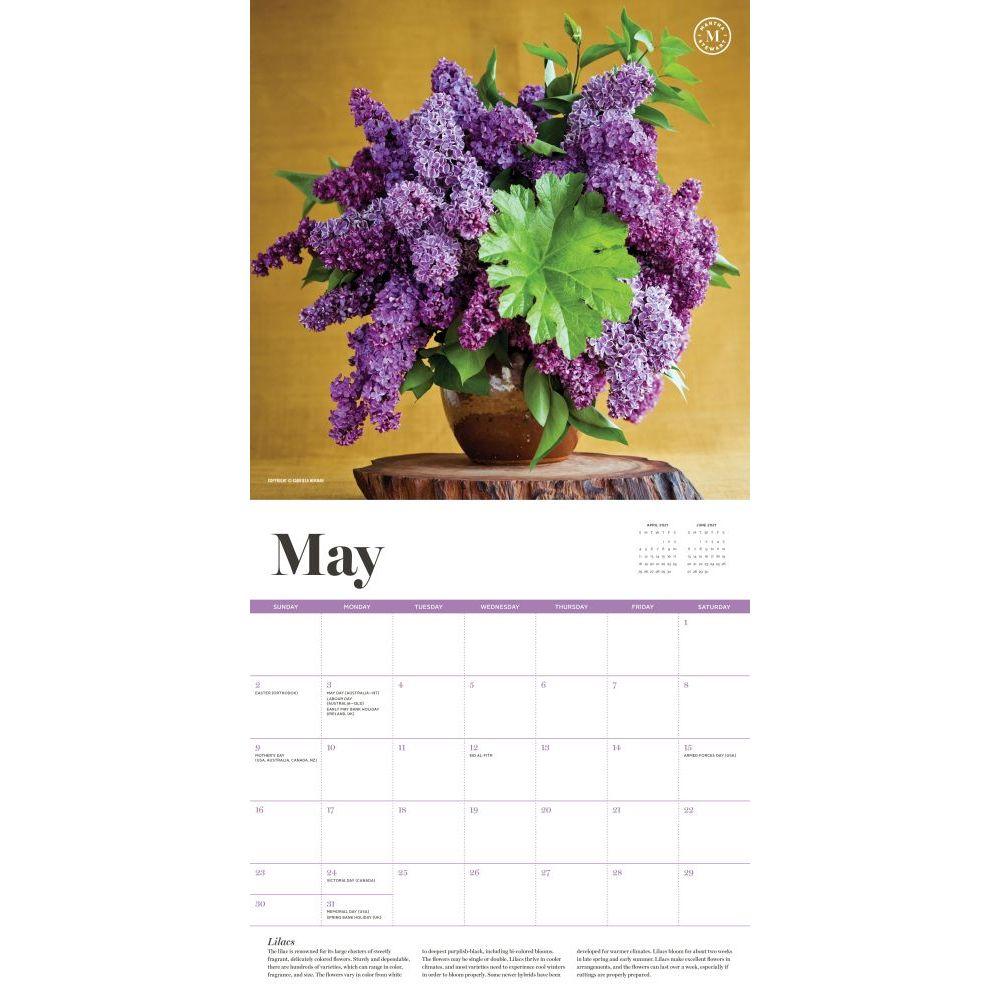 2021 Marthas Flowers Wall Calendar