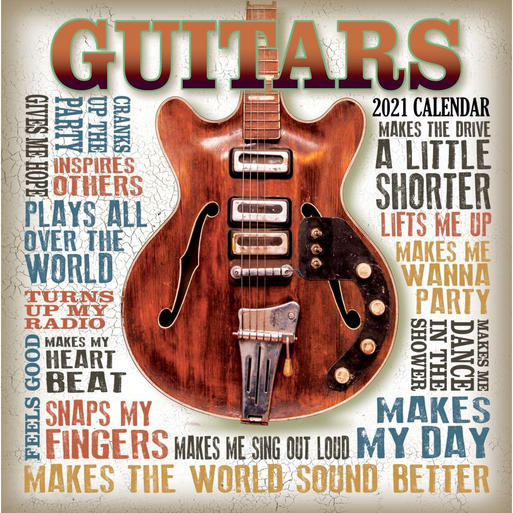 Retrorocket Guitars 2021 Wall Calendar