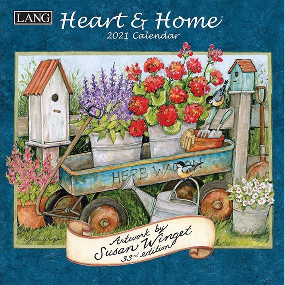 2021 Heart & Home Mini Wall Calendar by Susan Winget